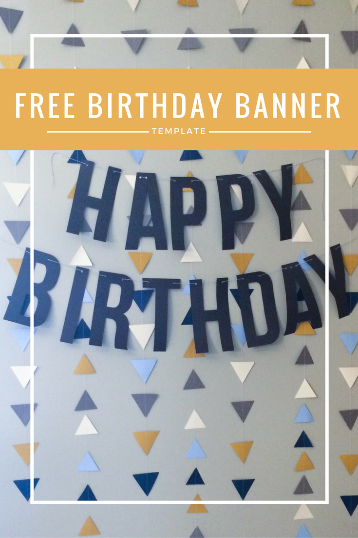 "Rustic Paper Airplane Party | FREE printable ""Happy Birthday"" banner template"