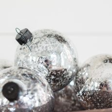 Cheap & Easy Mercury Glass Ornaments