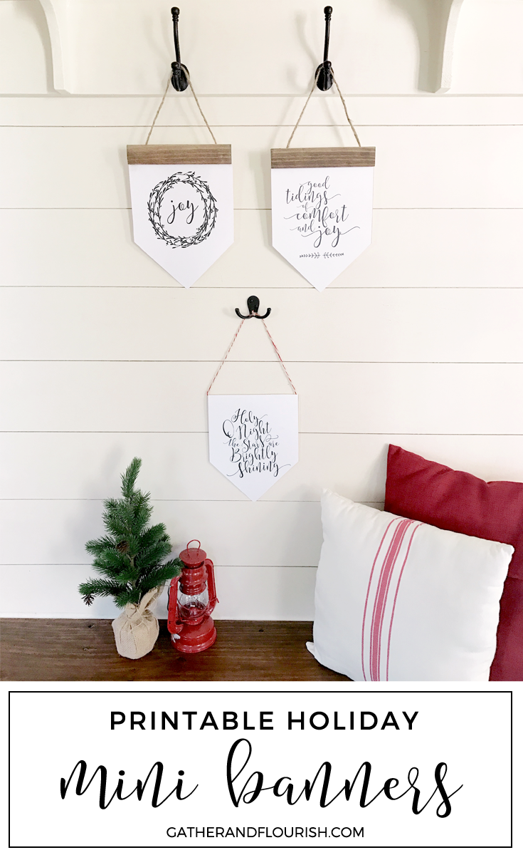 Gather & Flourish | FREE Holiday Mini Banners Printable!