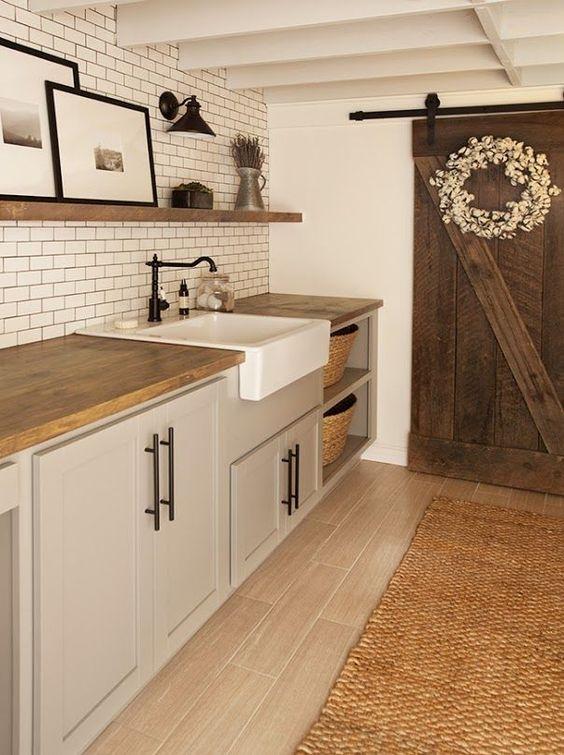 Modern Farmhouse Laundry Room Choosing Cabinet Hardware Orc Week 3 Gather And Flourish