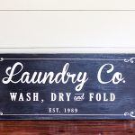 Farmhouse Laundry Room Sign Tutorial | ORC Week 4
