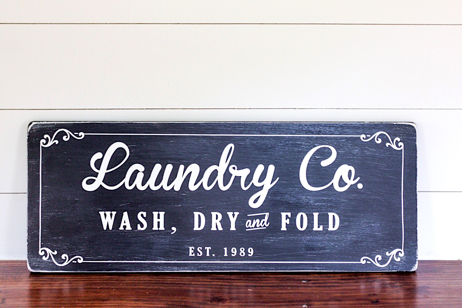 Farmhouse Laundry Room Sign Tutorial | ORC Week 4