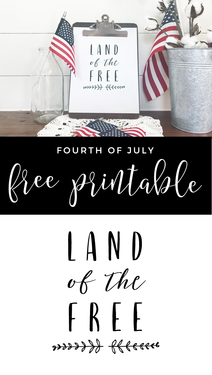 Land of the Free Patriotic Printable - Gather and Flourish
