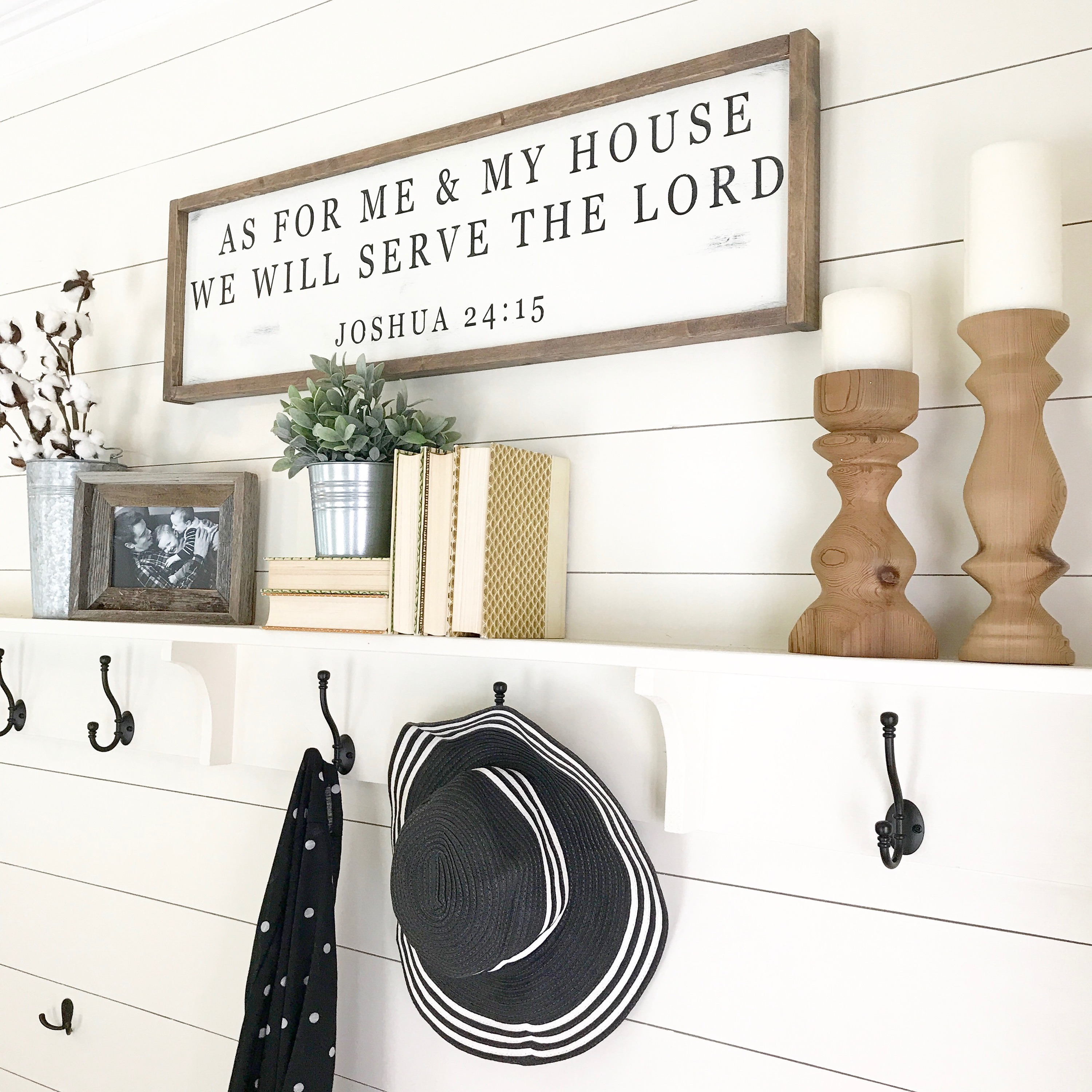 As For Me and My House Farmhouse Sign Tutorial! Fixer Upper style Farmhouse Sign. Joshua 24:15 Sign Tutorial!