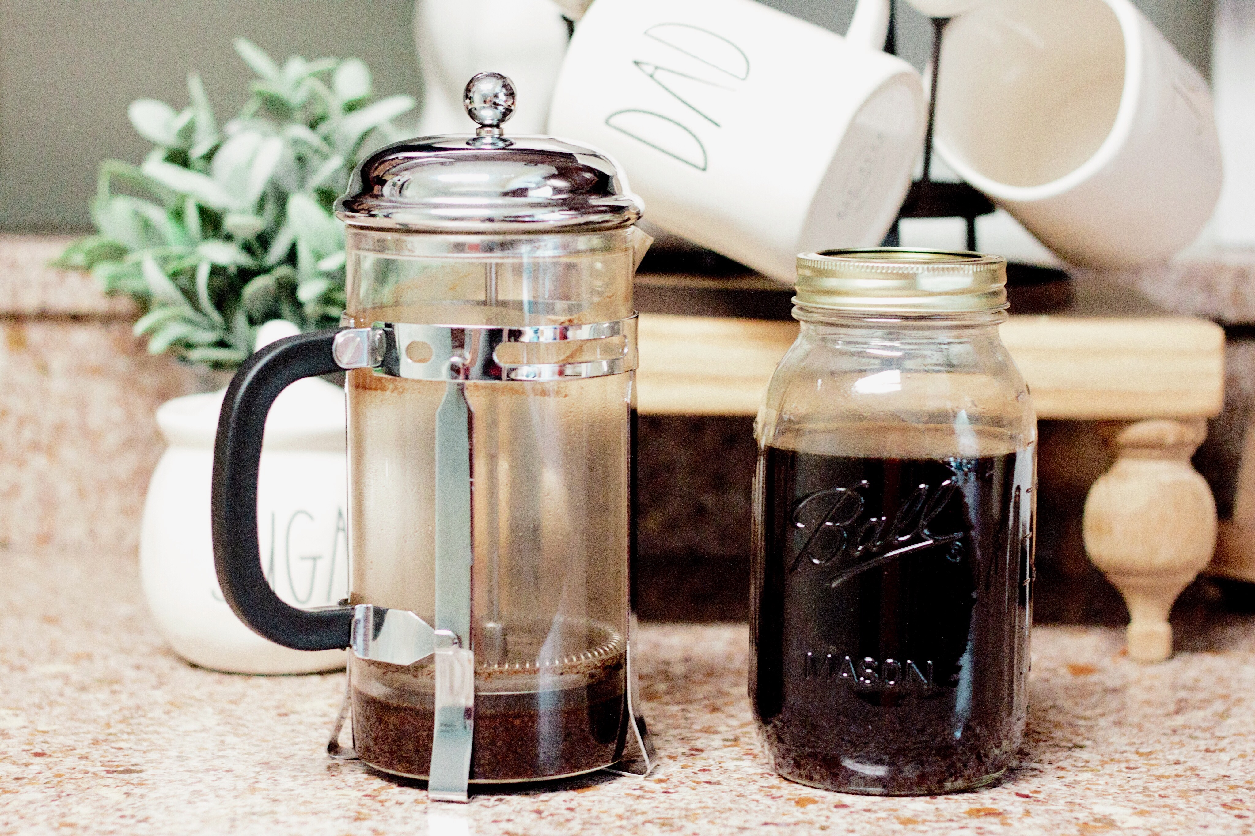 Easy dairy-free cold brew iced coffee recipe you will LOVE! Whether your are lactose intolerant, on the paleo diet or you just simply don't like dairy, this iced coffee is a must try!!