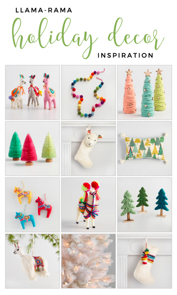 llama rama holiday decor inspiration sponsored by worldmarket giftthemjoy - Llama Christmas Decoration