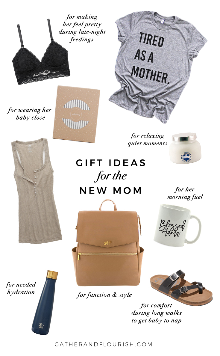 Gift ideas for new moms! Gift ideas for the new or expecting mom in your life. Gift guide for new moms, gift guide for pregnant moms, gift guide for mom. Gift ideas for mom. Gift ideas for pregnant moms. Gift ideas for expectant moms.
