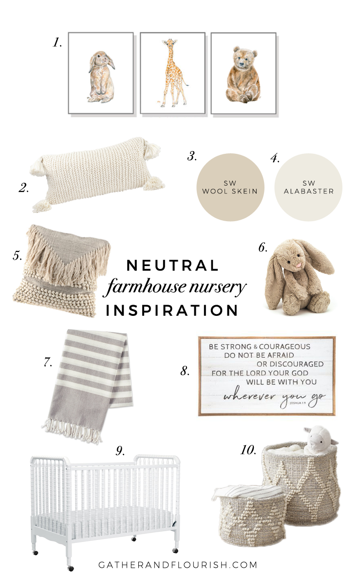 neutral farmhouse nursery, neutral nursery inspiration, neutral nursery, gender neutral nursery, farmhouse nursery