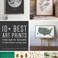 10+ Art Prints for Boys Rooms (Plus FREE Printable!) | ORC Week 4