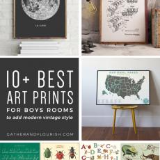 10+ Art Prints for Boys Rooms (Plus FREE Printable!) | ORC Week 4