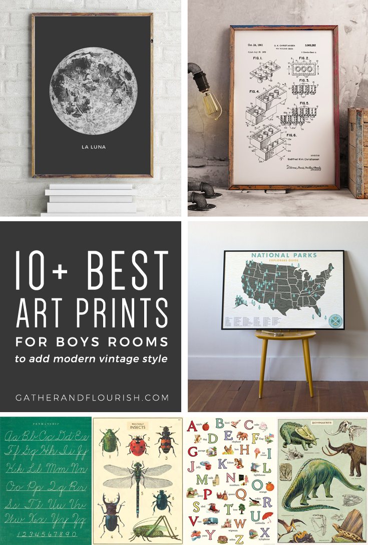 image relating to Free Printable Art known as 10+ Artwork Prints for Boys Rooms (Additionally Cost-free Printable!) ORC