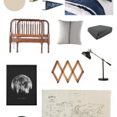 Vintage Modern Boys Bedroom Inspiration   ORC Week 1